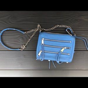 Blue Rebecca Minkoff Mini Five-Zip Crossbody Bag